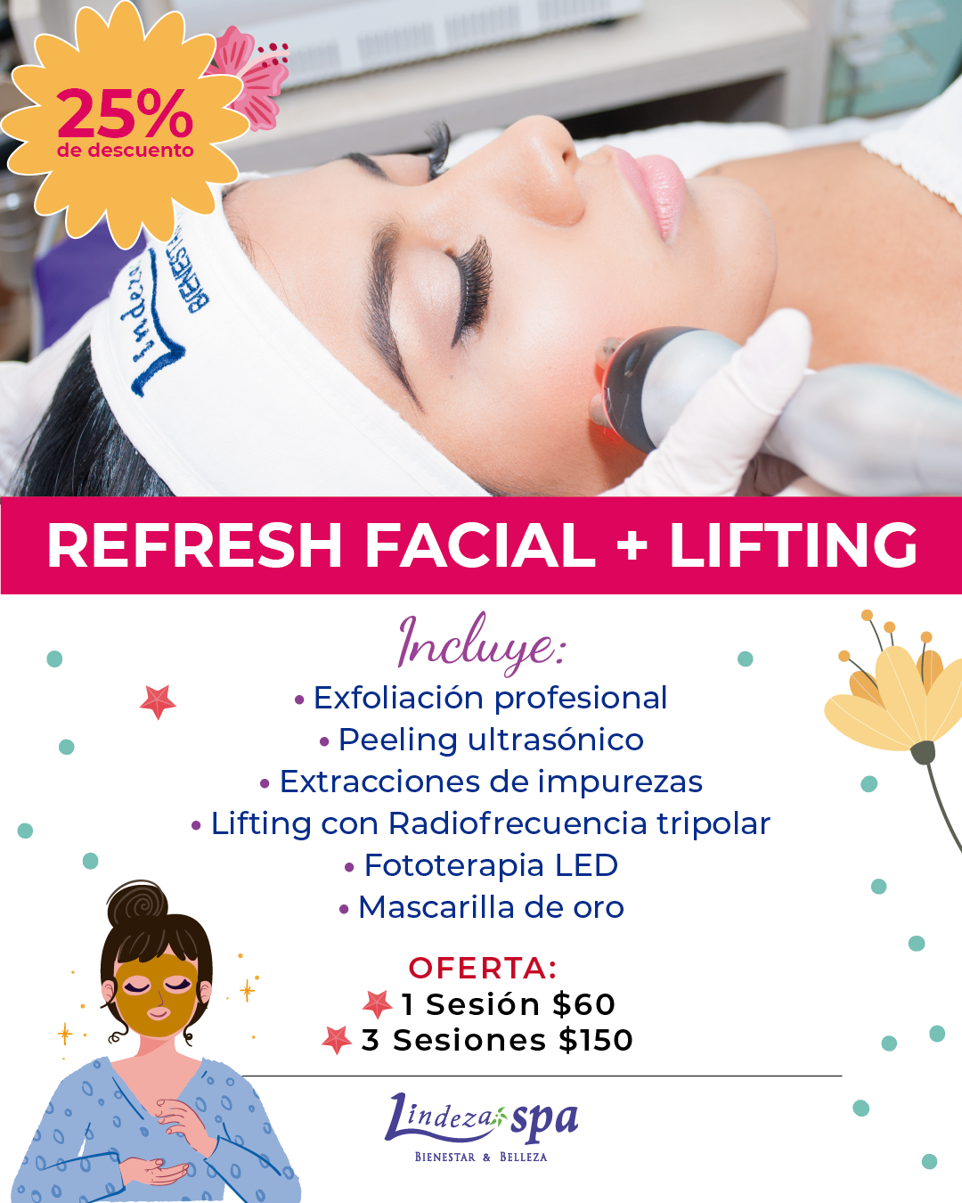 Refresh facial, lifting sin bisturí en Guayaquil