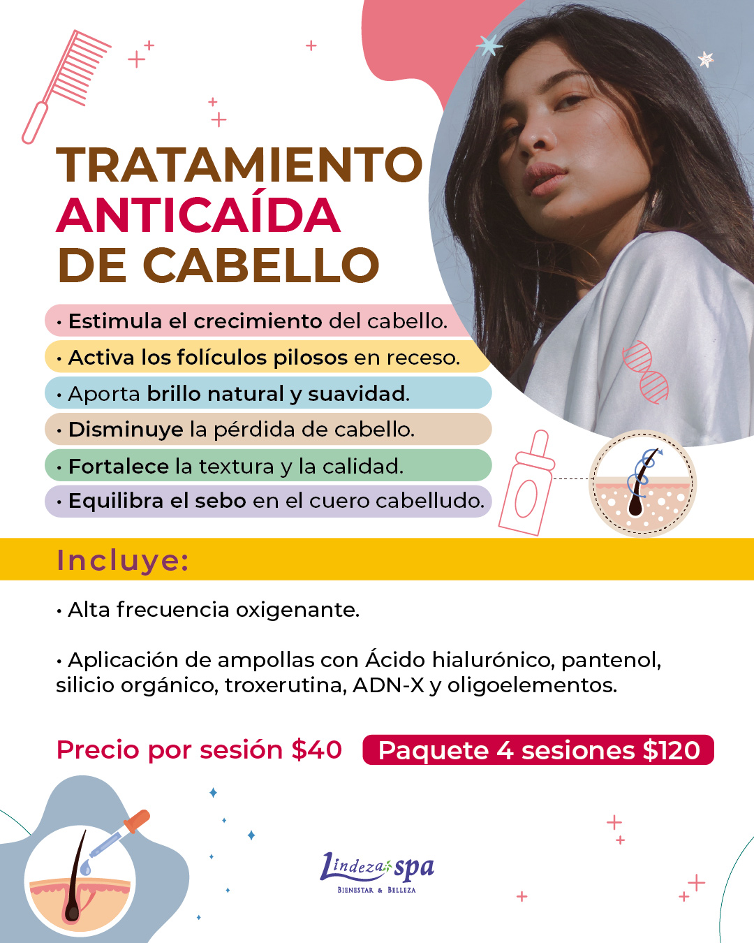 Anticaída de cabello, cabello fuerte en Guayaquil, remedios para la caída de cabello