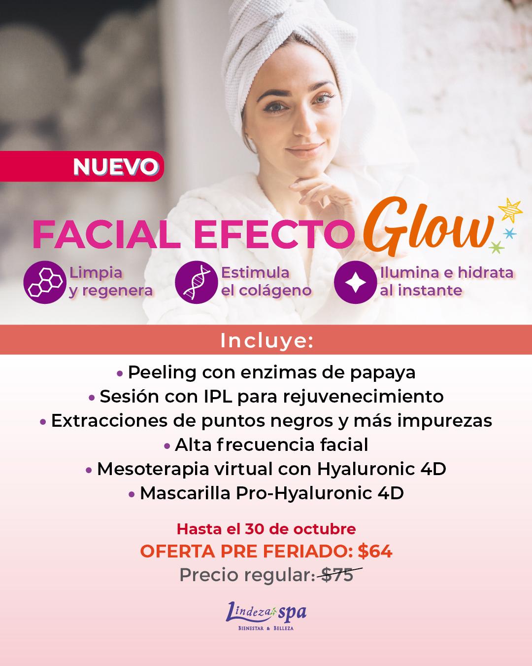 efecto Glow, facial en Guayaquil, spa, tratamiento facial sin agujas, no invasivo