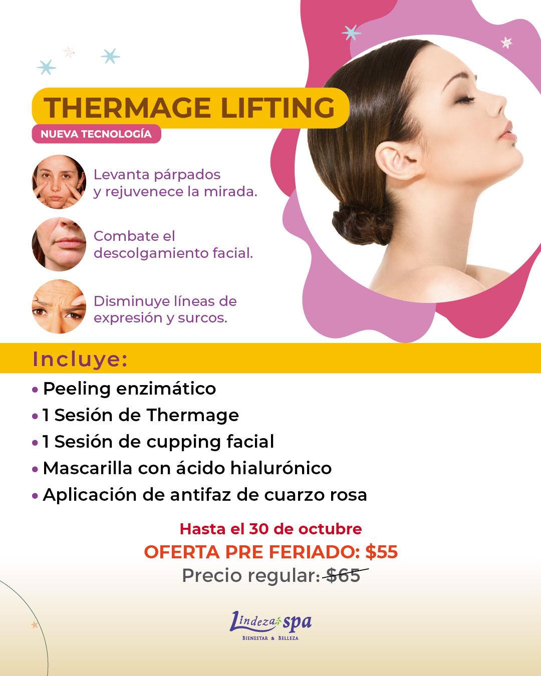 Thermage Lifting, radiofrecuencia en Guayaquil, facial, skincare Ecuador, colágeno, tratamientos faciales en Guayaquil