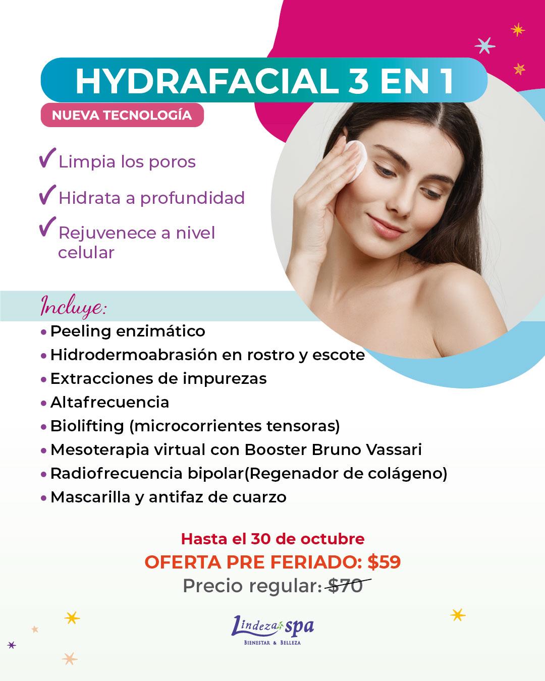 Hydrafacial, hidrodermoabrasion, spa en Guayaquil, dia de spa, Aqua Peel